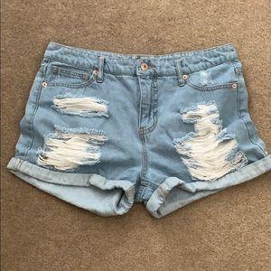 Mossimo High Rise Denim Short Shorts